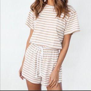 Sabo skirt stripe romper